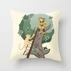 Stuck in a Tree Throw Pillow
