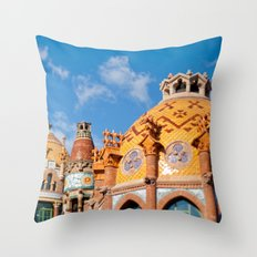 Modernism architecture in Barcelona Throw Pillow