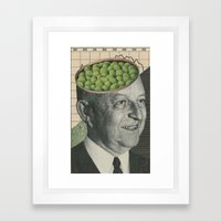 Son Of Pea Brain Framed Art Print