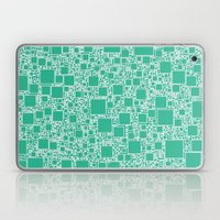 Boxes Teal Laptop & iPad Skin