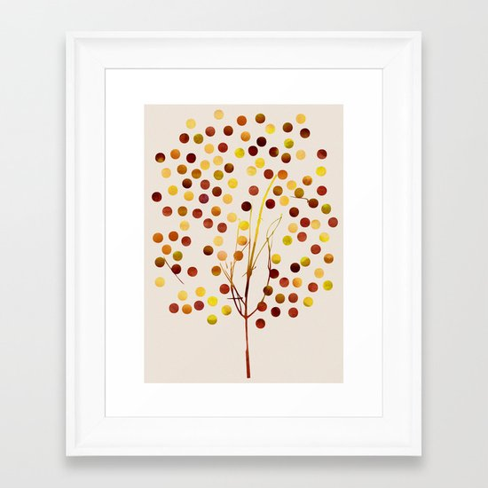 Tree of Life_Amber by Jacqueline and Garima Framed Art Print