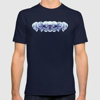 Sequential Skulls Mens Fitted Tee Navy SMALL
