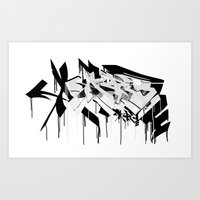 graffiti - AR3 Art Print