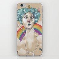RAINBOW UNICORN iPhone & iPod Skin