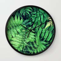 50 Shades Of Green (1) Wall Clock