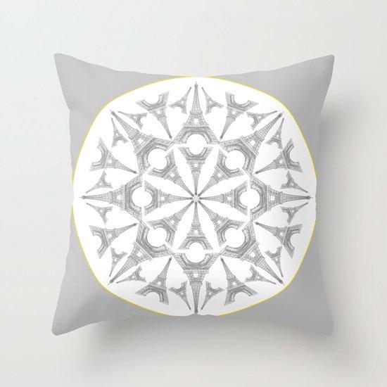 Paris in a Kaleidoscope Throw Pillow