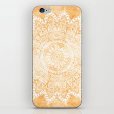 TANGERINE BOHO FLOWER MANDALA iPhone & iPod Skin