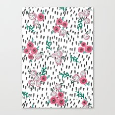 Rose. Illustration, pattern, print, floral design, art, painting, flowers, flower, Canvas Print