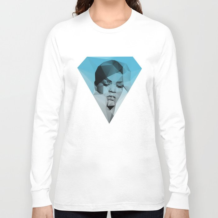rihanna long sleeve t shirt by david society6