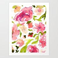 Pink Paeonia's Art Print