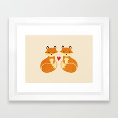 Love foxes Framed Art Print