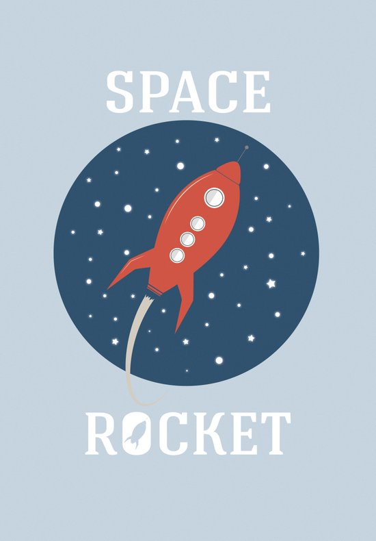 Space Rocket Art Print