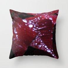 Diamonds on red velvet Throw Pillow