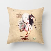 Western Girl profile (1) Throw Pillow