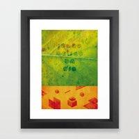 Un Dia Framed Art Print