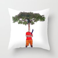 Warrior tree Throw Pillow