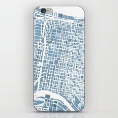 Philadelphia City Map iPhone & iPod Skin