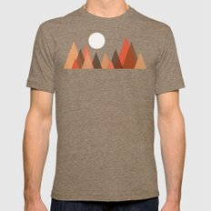 From the edge of the mountains Mens Fitted Tee Tri-Coffee SMALL