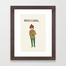 warm hipster Framed Art Print