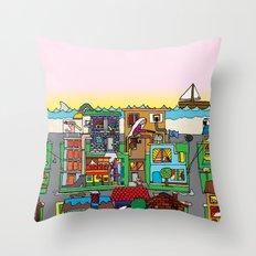 Good Magazine Neighborhoods Throw Pillow
