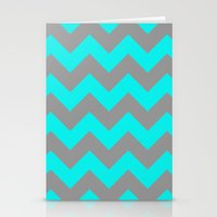 Chevron Turquoise Stationery Cards