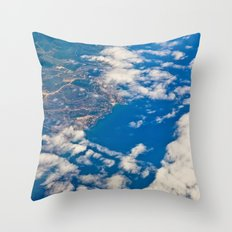 areal view Throw Pillow