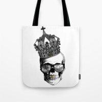 King skull Tote Bag