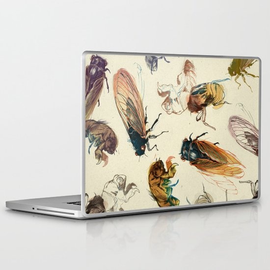 summer cicadas Laptop & iPad Skin