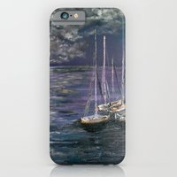iPhone & iPod Case featuring By the Light of the Silvery Moon by RokinRonda