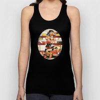 Glitch Pin-Up Redux: Emm… Unisex Tank Top