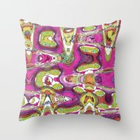 Funky Love Throw Pillow