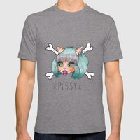 PU$$Y Mens Fitted Tee Tri-Grey SMALL