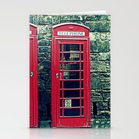 Red Telephone Boxes Stationery Cards