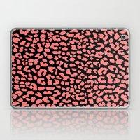 Coral Black Leopard Laptop & iPad Skin