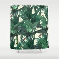 Banana Leaf Pattern 2 Shower Curtain