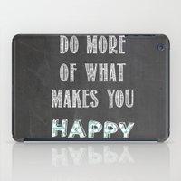 Quote, inspiration chalk board  iPad Case