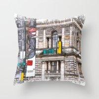 15th street Glasow Throw Pillow