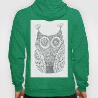 Owl Doodle art Hoody
