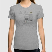 Say Cheese Womens Fitted Tee Athletic Grey SMALL