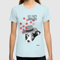 Un Chien Andalou Womens Fitted Tee Light Blue SMALL