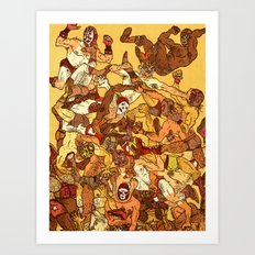 Some Guys Like it Rough Art Print