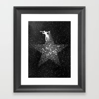 Stargazing Framed Art Print