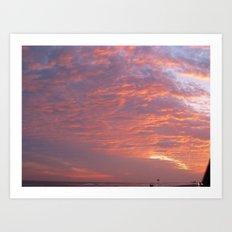 Galveston Sunset I Art Print