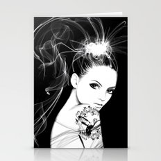 Smoke Girl Stationery Cards