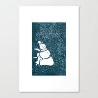 Mr Snowman Canvas Print