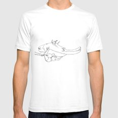 Bear 1 White SMALL Mens Fitted Tee