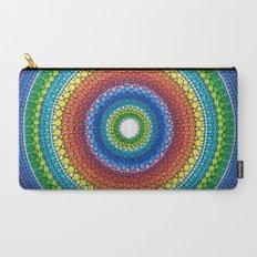 Happy Rainbow Mandala Carry-All Pouch