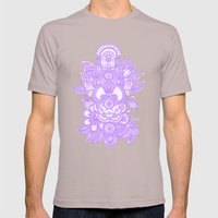 Purple Henna Mens Fitted Tee Cinder SMALL