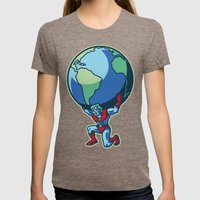 The Weight of the World Womens Fitted Tee Tri-Coffee SMALL