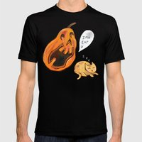 Kitty Watch Out! Mens Fitted Tee Black SMALL